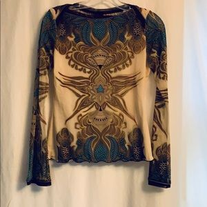 Lined, Sheer unique top by ANAC, size S/M,